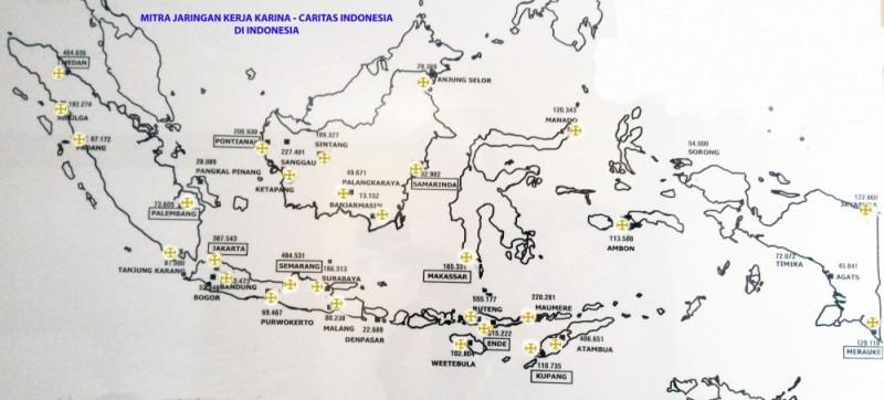 Peta Mitra KARINA di Indonesia